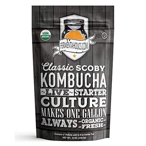 Es fácil de hacer su propio Kombucha! Este paquete se utiliza para hacer el té de Kombucha en casa y proporciona suficiente cultivo iniciador para hacer un galón batch.Making Kombucha en casa es mucho más asequible que comprados en la tienda kombucha...