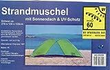 Strandmuschel 46254 mit zusätzlichem Sonnendach und UV-Schutz - 270 x 120 x 120 cm