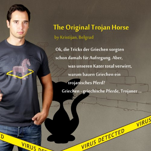 The Original Trojan Horse - Herren T-Shirt von Kater Likoli Anthrazit