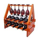 SPRING GLOW Massivholz überlagert Weinregal Stilvolle Kreative Holz Ornamente Weinflasche Weinregal europäischen hölzernen Wein Cabinet Cup Holder