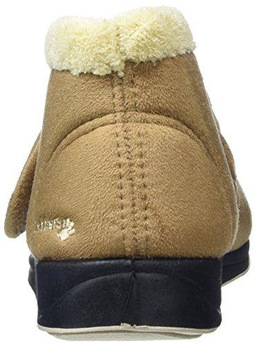 Padders–Hush da donna Hi-Top Pantofole Beige (Taupe /Camel)