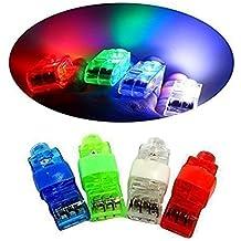 DouTree Finger Lights Bright LED Rave Laser surtido de juguetes Pack de 24