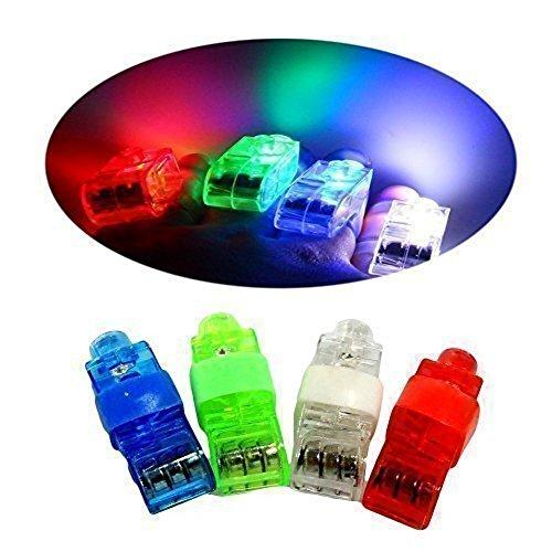 (DouTree Finger Lichter Helle LED Rave Laser Sortierte Spielzeug Packung mit 24)