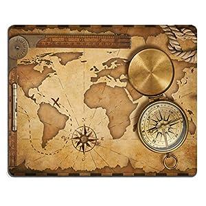 MSD caucho Natural alfombrilla para ratón de mapa del tesoro regla cuerda y brújula de latón antiguo con tapa imagen 17307754