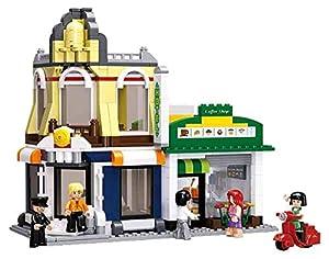 Sluban M38-B0575 Bloques de Construccion Town Cafe & Hotel, multi color, Set de 470 Piezas