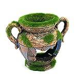 Dimart Simulation Resin Vase with Moss Aquarium Decorations Fish Tank Landscape Ornament 7