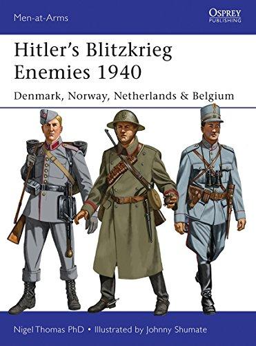 Hitler's Blitzkrieg Enemies 1940: Denmark, Norway, Netherlands & Belgium (Men-at-Arms) por Nigel Thomas