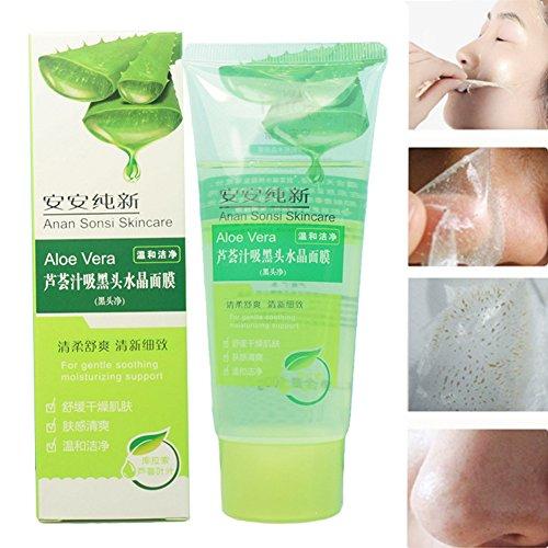 DFLY 100g Crystal Cream Aloe Vera Blackhead Masks Acne Cleanser Deep Clean Removing Eliminate Blackhead Facial Mask Treatments Peel Mask Acne Treatment