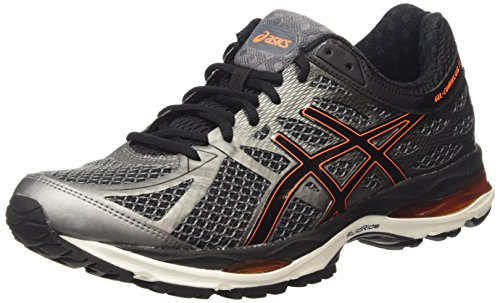 ASICS Gel-cumulus 17, Herren Laufschuhe, Grau (smoked Pearl/black/flash Orange 9290), 45 EU