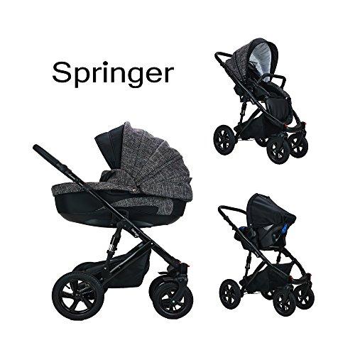 Springer CityPlus | Kinderwagen 3 in 1 Kombikinderwagen | Luftreifen | (London)