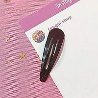 Wangc Candy Colors Hair Clip Triangle Hairpin Girl Accesorios para el Cabello (Negro)