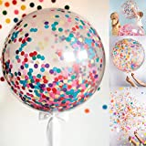 GrandShop 50711 Confetti Latex Balloon / Birthday Balloon Bouquet Birthday Decorations / Fringe / Wedding Balloons Bouquet ShowerBaby Shower (Pack of 5)