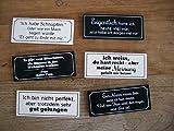 Amüsante Magnetschilder Kühlschrankschilder Mann / Frau Spruch 6 St.