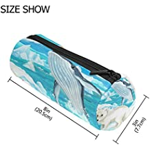 COOSUN Polar Fox And Whale Pencil Case Pen Bag Pouch Organizer Large Capacity Stationery Cosmetic Bags Zipper Pouch Purse Kids Gift