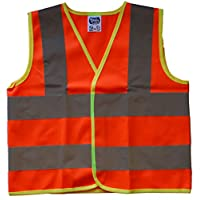 Bespoke/Own Text Baby/Children/Kids Hi Vis Safety Jacket/Vest Sizes 0 to 8 Years Optional Personalised On Front
