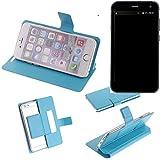 K-S-Trade Flipcover für Cyrus CS 28 Schutz Hülle Schutzhülle Flip Cover Handy case Smartphone Handyhülle blau