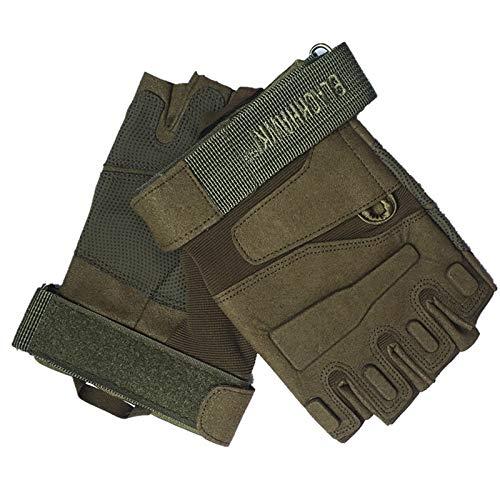 fitne fahrrad Blisfille Handschuhe Fahrrad Herren Schwarz Hawk Tactical Half Finger Handschuhe Slip Wear Army Fan Kampfhandschuhe Für Außenbereich