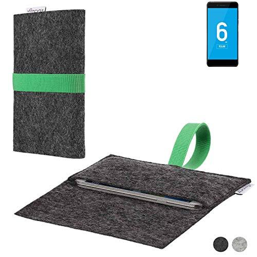 flat.design Handy Hülle Aveiro für Vernee Mars Pro 4G passgenaue Filz Tasche Case Sleeve Made in Germany