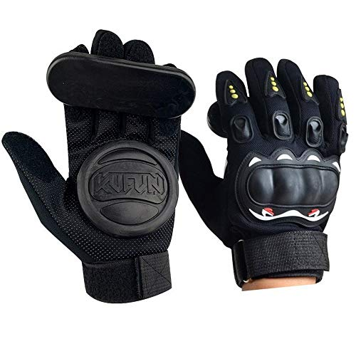 HR Longboard Handschuhe Slide Gloves Handschuhe Schutz Slide Gloves Ideal for Beginners für Skateboarding und Skater Skateboard Handschuhe Protektor Armschutz Dickere Schwarz (Skateboard-slide Handschuhe)