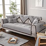 Unimall Sofabezug Cartoon Sesselbezug Grau Sofadecke Abdeckung für Couch 70 x 210 cm