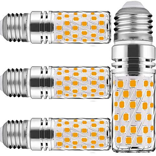 E27 Maiskolben Led E27 Warmweiss 15w Warmweiß Maiskolben Led Mais Birne 6000K 1500Lm Entspricht Glühbirnen 120W Nicht dimmbar Kleine Edison-Schraube Kerze Leuchtmittel(4er-Pack)