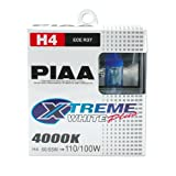 PIAA Xtreme Blanco Mas Bombilla H4 60/55W Iqual a 110/100W - Pair PN: HE303