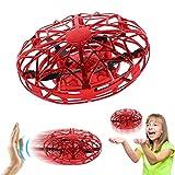 Joy-Jam Cadeaux pour Filles Garçons 5-8 Ans Balle Volante Mini Drones pour Enfants UFO Jouet Volant Hélicoptère Télécommandé Jeux pour Enfants Rouge