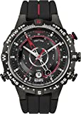 Timex Men's T2N720 Quartz Tide Temp Compass Watch with Black Dial Analogue Display