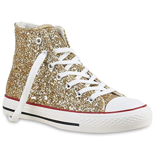 Culto Desportivos Atam Sapatos Sapatilhas Pano Brilhante Ouro Senhoras 8Eqztwx4n