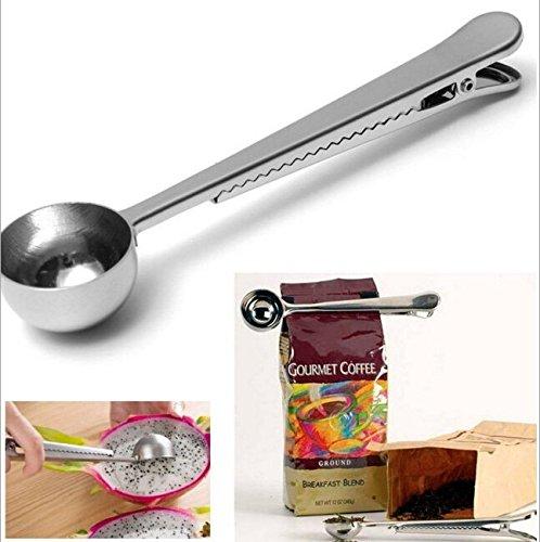 Kaffee-Schaufel, Efly Prämien-Edelstahl-Kaffee-Schaufeln und Tee-Schaufel mit integriertem Beutel-Klipp