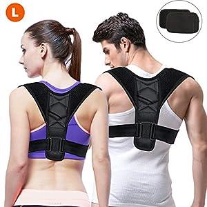 Gifort Geradehalter zur Haltungskorrektur, Schulter Rücken Haltungsbandage Verstellbare Größe Rückenbandage für Herren und Damen