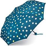 Esprit Regenschirm Mini Damen Taschenschirm bedruckt Punkte - Waterreactive - ändert Farbe bei Nässe