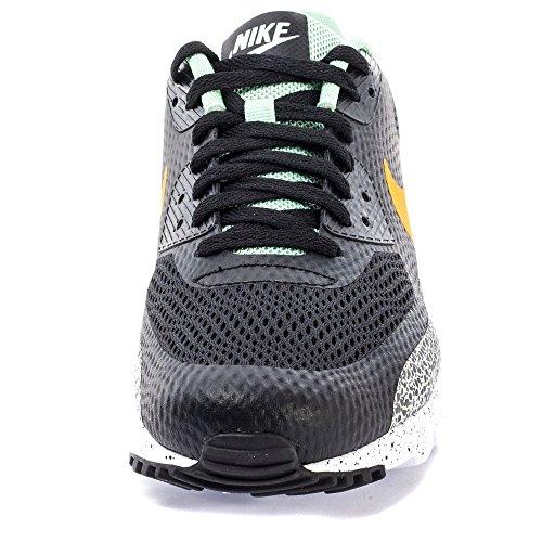 Nike Herren Air Max 90 Ultra Essential Sneakers Schwarz / Grün / Weiß (Schwarz / Harz-Emaille-Grün-Weiß)