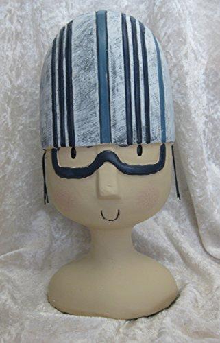 Aufsteller Deko Kopf mit Badekappe Streifen Schwimmer
