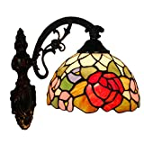 FABAKIRA Lámparas de Pared Tiffany Lamp Vintage Retro Mini Iluminación de Pared Alique para Interiores y Exteriores
