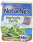 Nestlé Bébé Naturnes Haricots Verts - Purée de Légumes dès 4 - 6 Mois - 2 x 130g - Lot de 6