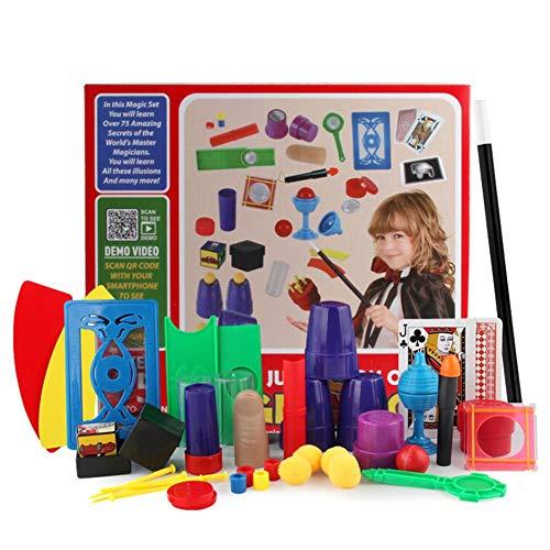 Depruies Deluxe Magic Set Anfänger Magic Kits Kinderspielzeugstab, 75 Zaubertricks Anfänger geeignet für Jungen und Mädchen Bestes Alter 6-9 Jahre (Anfänger Zaubertricks)