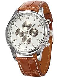 AMPM24 WAA690 - Reloj para hombres, correa de cuero color marrón