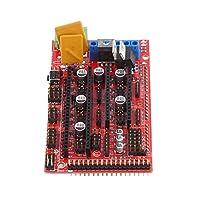 MagiDeal Kit de Controlador de Impresora 3D RAMPS 1,4 Controller Board Placa USB Indicador LED