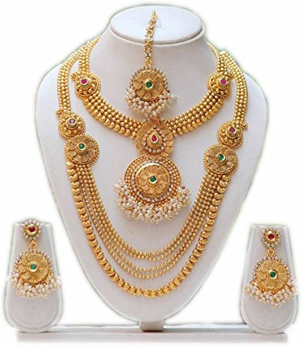 LookEthnic Golden Bridal Set for Women
