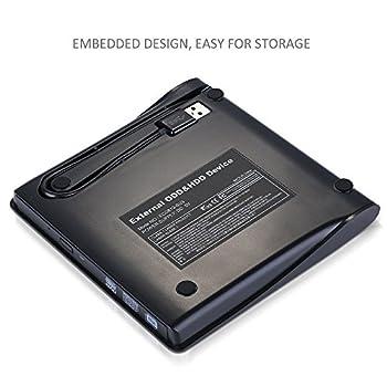Externes Dvd Laufwerk, Sopoby Usb 3.0 Dvdcd Brenner Für Laptops Und Desktops Notebook Unterstützt Windows Xp2003vista7win8, Mac Os - (Schwarz) 8