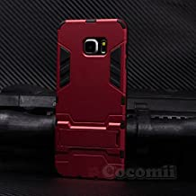 Galaxy S6 Edge Plus Funda, Cocomii Iron Man Armor NEW [Heavy Duty] Premium Tactical Grip Kickstand Shockproof Hard Bumper Shell [Military Defender] Full Body Dual Layer Rugged Cover Case Carcasa Samsung G928 (Red)