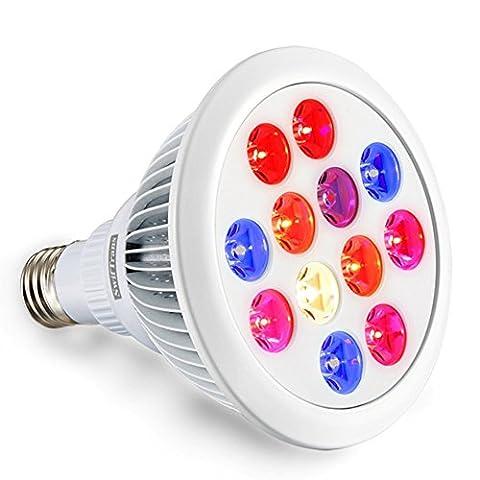 Swiftrans LED Lampe de Croissance 24W Ampoule avec Spectre Complet