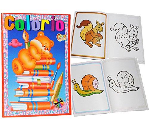 Unbekannt schönes Malbuch mit 32 Seiten & bunten Bilder Vordrucken - ideal zum 1. Malen - für kleine Kinder - Tiere Auto Zootiere Figuren - Malvorlagen - Mädchen Jungen.. (Auto-malbuch Klein)