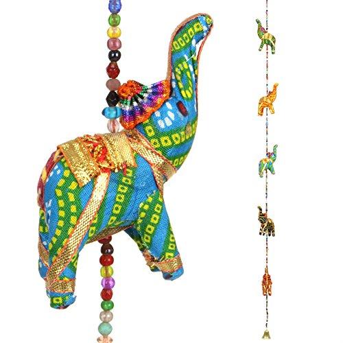 LOUDelephant Hecho a Mano Colgante para móvil Cadena de Elefantes con cascabeles...