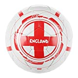 Size 5 England Quality Training Official England Football Leisure Pitch Fifa World Cup Brasil Ball Red and White