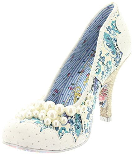 Irregular choice, escarpins femme gIRL 3614-48 pEARLY Blanc - Blanc