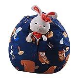 Spielzeug Aufbewahrungstaschen, Holeider Sitzsack Kinder Stofftier Kuscheltiere Aufbewahrung Aufbewahrungstasche Soft Pouch Stoff Stuhl (B)