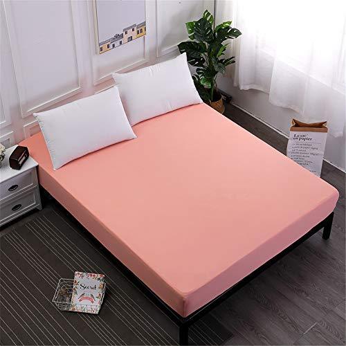 MKLVWU Einfarbiger Bettdecke in Mehreren Größen,Anti-Pilling Colorfast Bettdecke Korallenrot 220X200cmX25