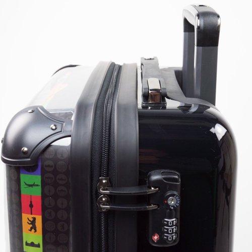 HAUPTSTADTKOFFER® 57 Liter (ca. 65 x 42 x 24 cm) · Reisekoffer · Modell: STYLE · TSA Schloss · verschiedene Cover (Berlin) Berlin